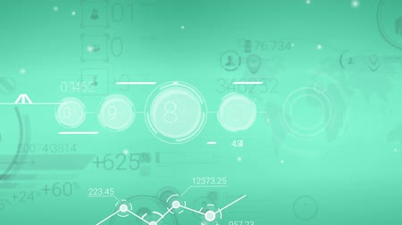 claro : Clear Green Corporate Background With Abstract Elements Of Infographics Vídeos