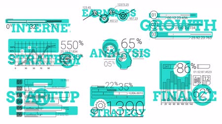 elementler : Infographic Elements In The Line Style. Blue Spot