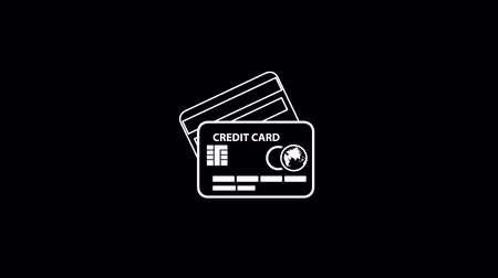 kart : Credit Card Thin Icon With Alpha Channel