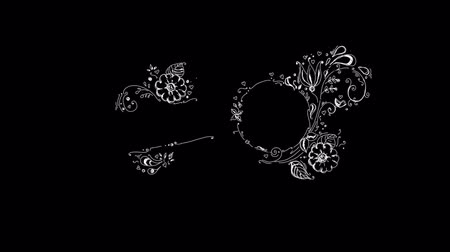 logotipo : Hand-made Floral Pattern On Alpha Channel