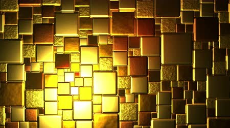 puzle : Golden Cubes Background In 4k