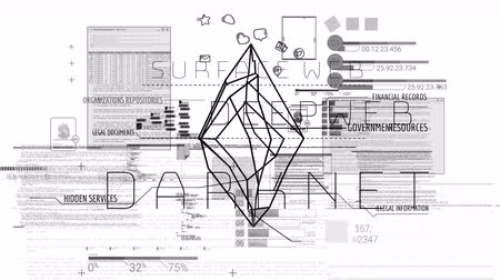 darknet : Deep Web. Unseen Side of the Internet Stock Footage