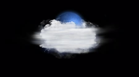 meteoroloji : Moon Fog, Weather Forecast Icon with Alpha Channel