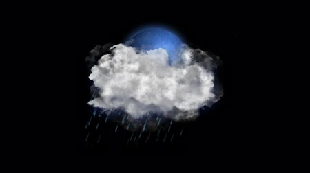 hail : Moon Rain, Weather Forecast Icon with Alpha Channel