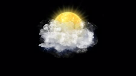hail : Sun Clouds, Weather Forecast Icon with Alpha Channel