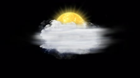 hail : Sun Fog, Weather Forecast Icon with Alpha Channel