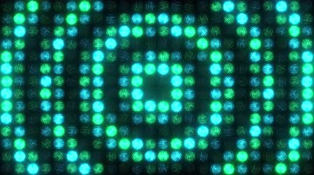 премия : A green-blue light wall flashes with large pulsating rings