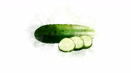 bitkisel : A video illustration of Cucumber Stok Video