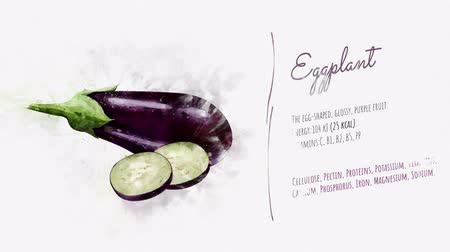 beautifully : A beautifully animated card with information about Eggplant