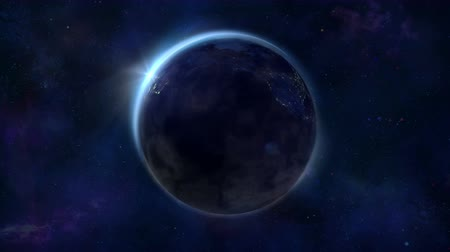 orbital : Looped animation of the Earths night globe