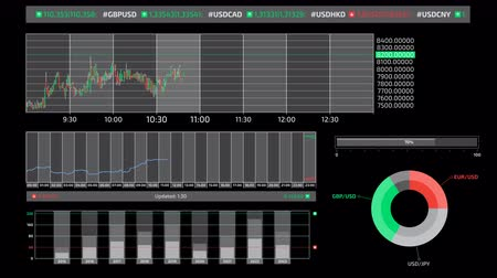 разведка : Infographics about trading on the stock exchange on the alpha channel