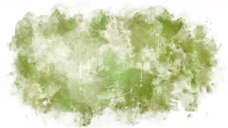 smudged : Green yellow paint stain
