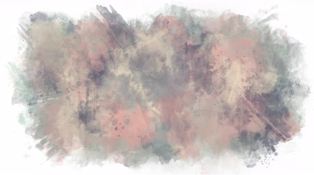 stain : Background of watercolor brushes Stock Footage