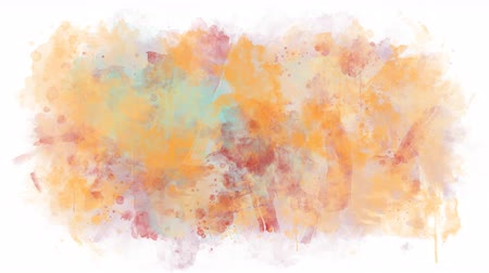 spilled : Paint of different colors spreads on a transparent background