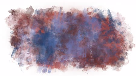 smudged : Sprawling colored blob Stock Footage