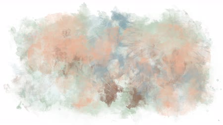 smudged : Paint of different colors spreads on a transparent background