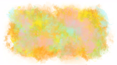 smudged : Colored background from watercolor stains Stock Footage