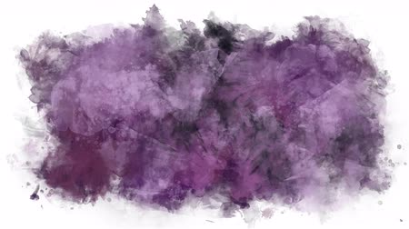 smudged : Animated stain of watercolor brushes Stock Footage