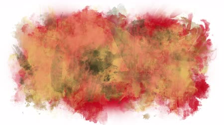 smudged : Spilled paint splashes Stock Footage
