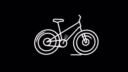 marker : Bicycle line icon on the Alpha Channel