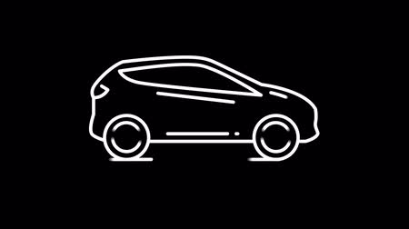 cartografia : Car line icon on the Alpha Channel