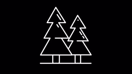 штифт : Christmas trees line icon on the Alpha Channel