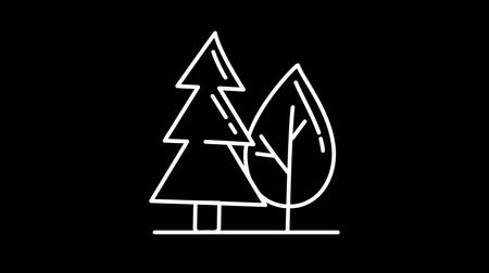 cartografia : Forest line icon on the Alpha Channel