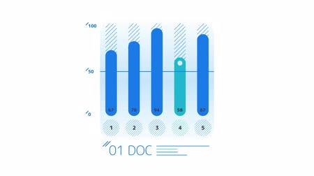 kolumny : Infographic Element - Column Chart Wideo