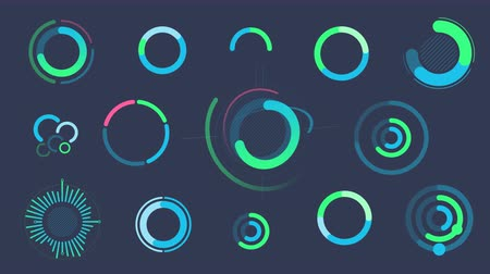 doughnut : Set of infographics with circle graphs and charts