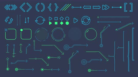 brackets : Collection of animated infographic elements and arrows