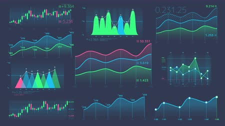 reporting : Decorative infographics from linear and candle charts