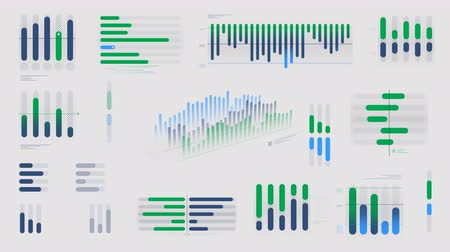 istatistik : Animated infographics diagrams on alpha channel