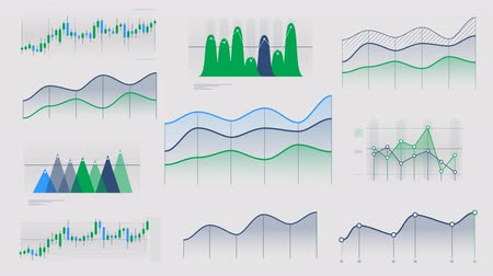 reporting : Linear and candlestick charts without data Stock Footage