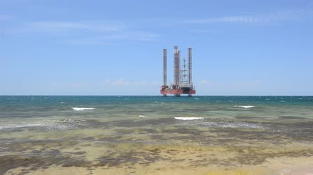 rigs : Drilling platform in the sea. Original high quality video without any processing. Footage 1920x1080