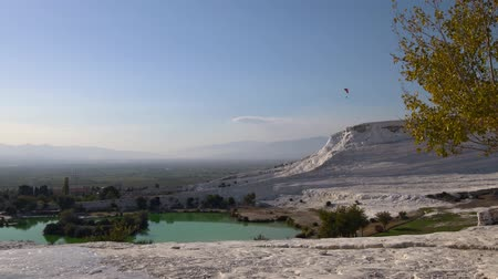 sediments : Beautiful view of Pamukkale in the autumn. Turkey