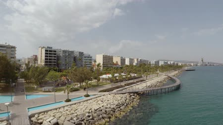 ciprus : Aerial view of Limassol beach in Cyprus