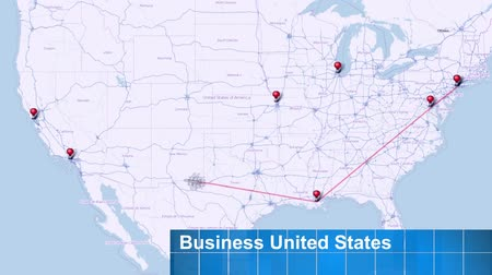 сеть : Business Flight in the United States with Airplane - Video