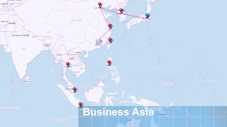 Business Trip Asia - Video Filmati Stock