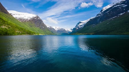 noruega : Beautiful Nature Norway lake Lovatnet.