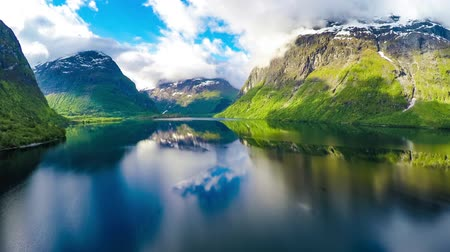noruega : Aerial footage from Beautiful Nature Norway.