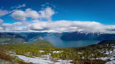 northern nature : Beautiful Nature Norway. The Sognefjorden. Stock Footage