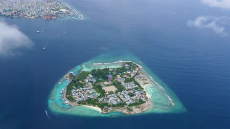 Мальдивы : Maldives Islands aerial view.