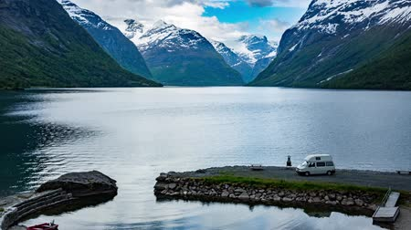 noruega : Hermosa Naturaleza Noruega. Archivo de Video