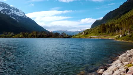northern nature : Beautiful Nature Norway Stock Footage