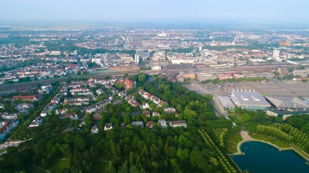 holler : City Municipality of Bremen Aerial FPV drone footage. Bremen is a major cultural and economic hub in the northern regions of Germany. Stock Footage