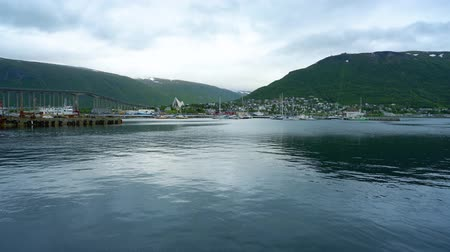 settlement : View of a marina in Tromso, North Norway. Tromso is considered the northernmost city in the world with a population above 50,000.