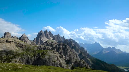 tre : Timelapse National Nature Park Tre Cime In the Dolomites Alps. Beautiful nature of Italy.