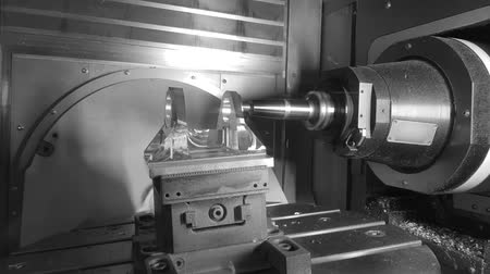 tokarka : Metalworking CNC milling machine. Cutting metal modern processing technology. Wideo