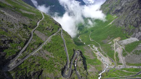 serpentine : Trolls Path Trollstigen or Trollstigveien winding mountain road in Norway.