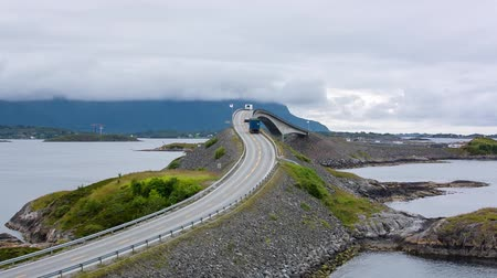 Norway Atlantic Ocean Road or Atlantic Road (Atlanterhavsveien) was awarded the title as Norwegian Construction of the Century. The road classified as a National Tourist Route.